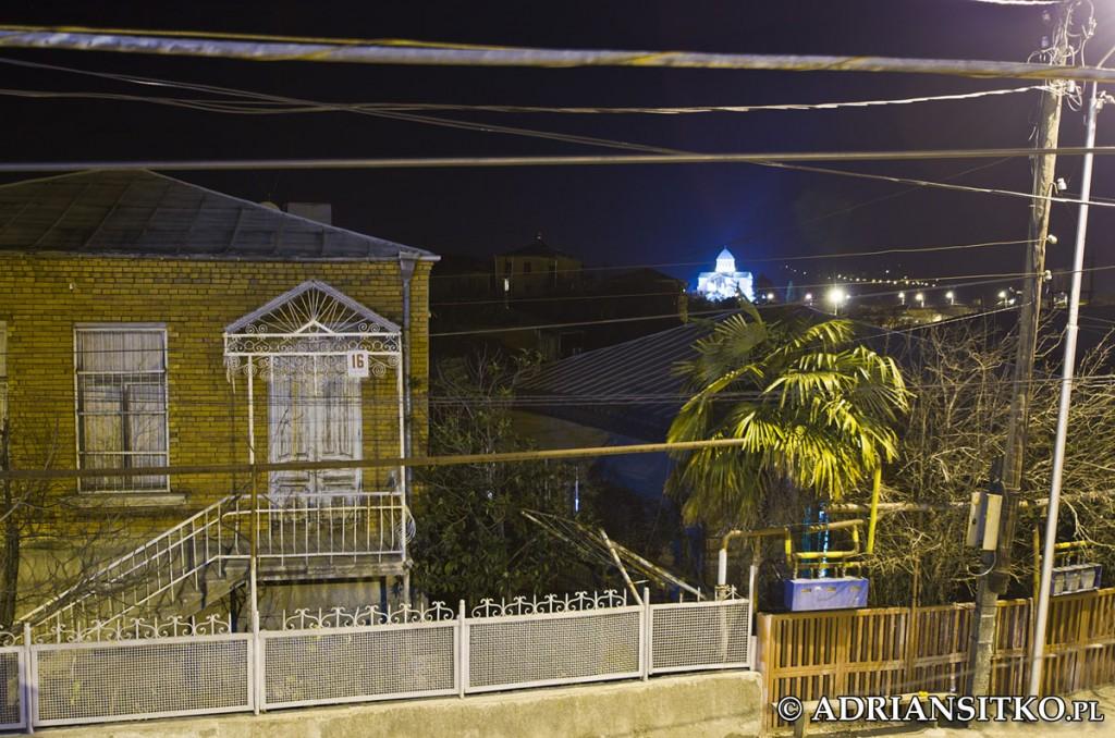 Widok z hostelowego balkonu