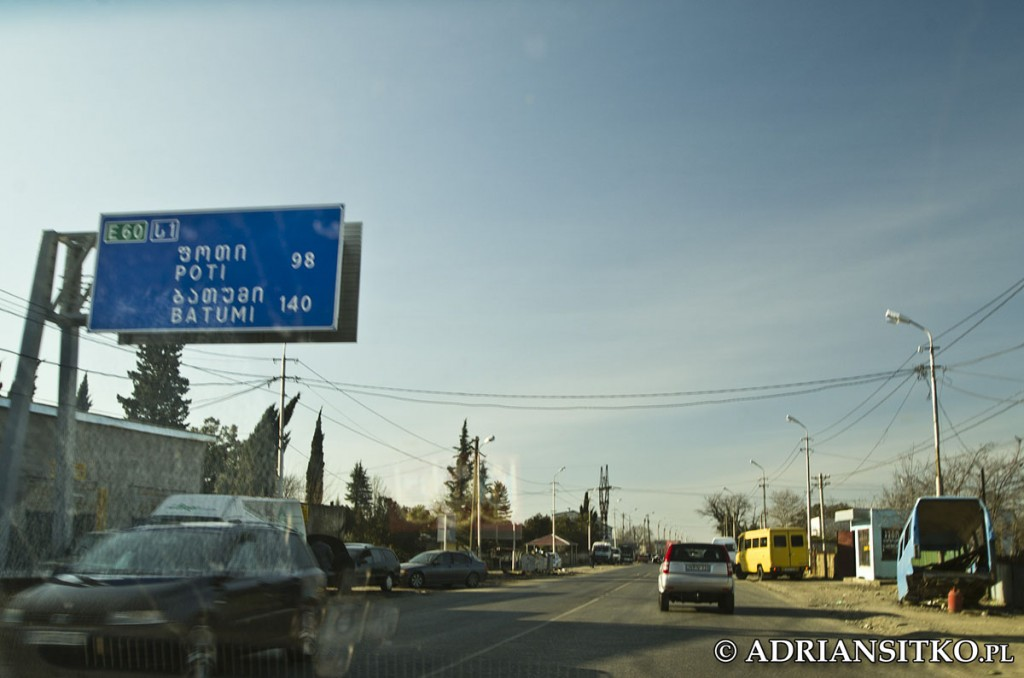 Wyjeżdżamy z Kutaisi.
