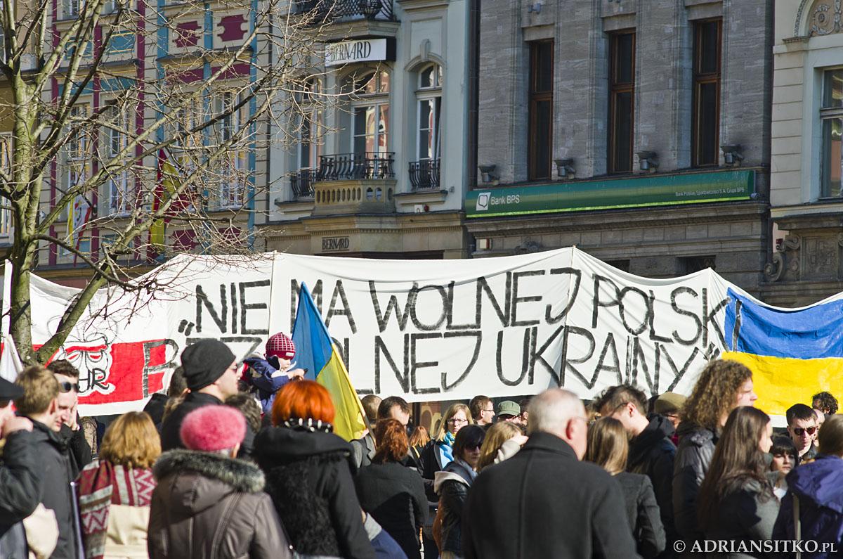 Wrocławski wiec poparcia dla Ukraińskiej Rewolucji