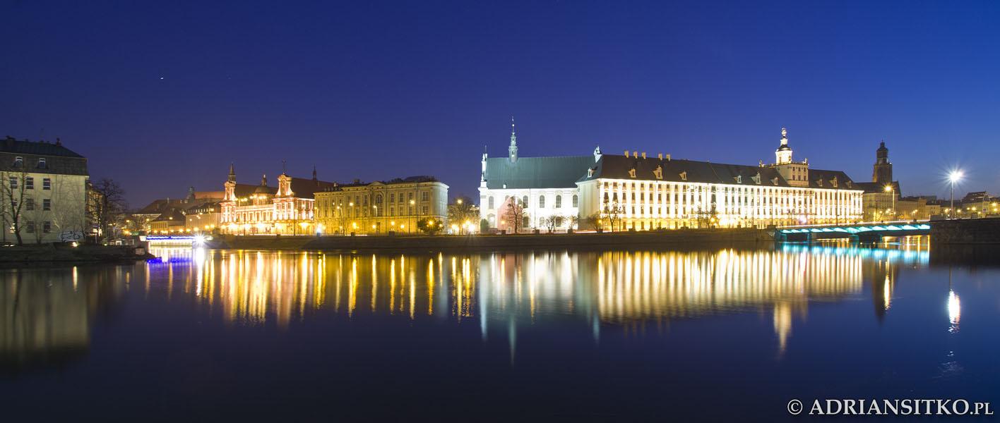 Główny gmach uniwersytetu. Panorama