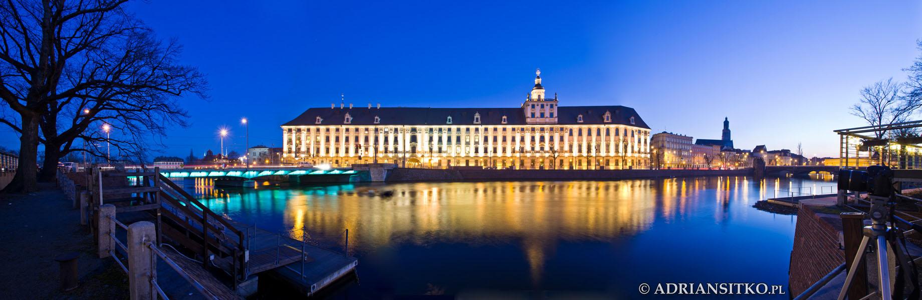 Gmach Uniwersytetu Wrocławskiego - panorama