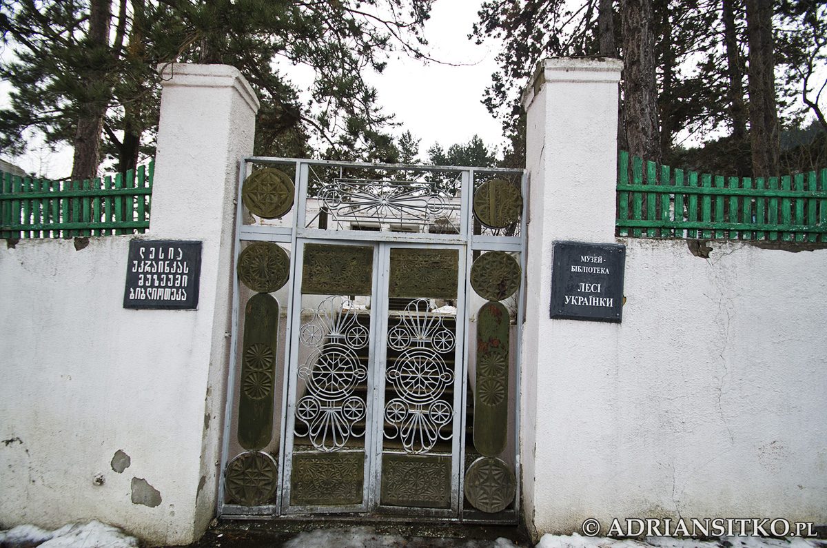Muzeum - biblioteka Łesi Ukrainki. Niestety zamknięte. Naprzeciwko znajduje się pomnik