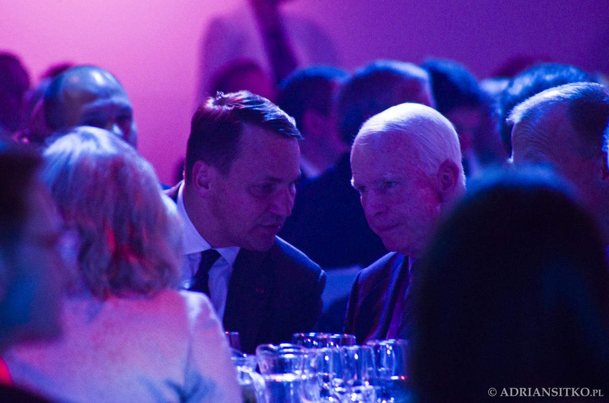 Radosław Sikorski i John McCain