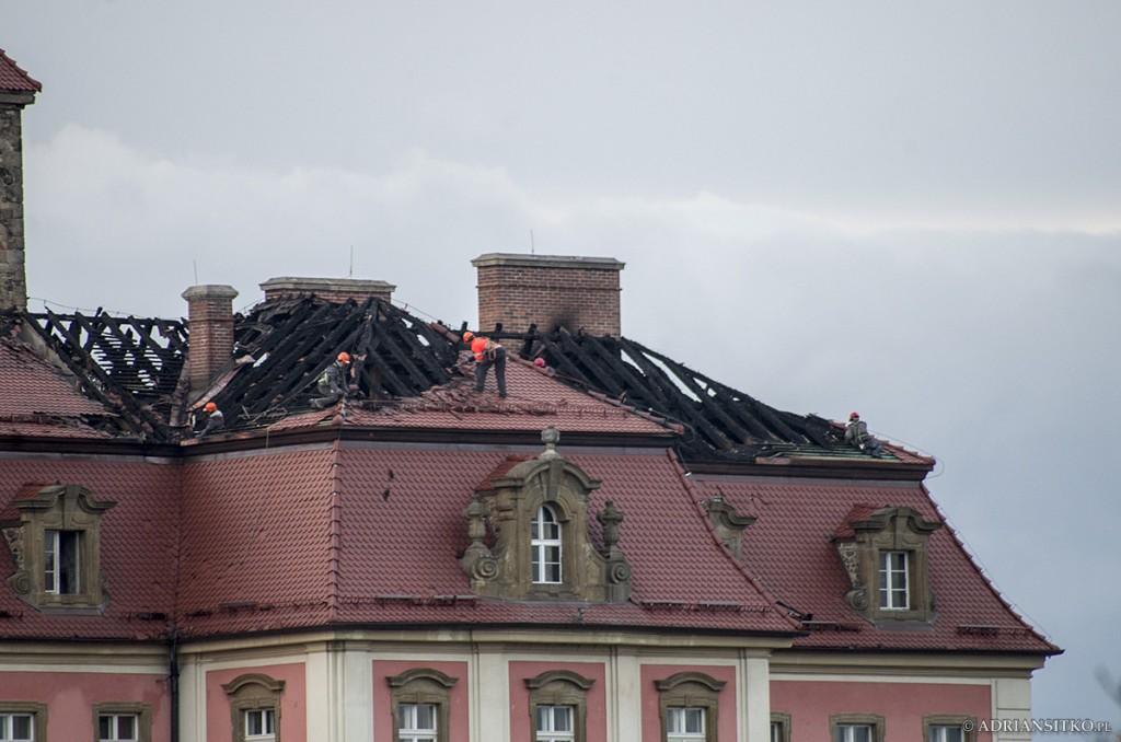 Zamek Książ po pożarze
