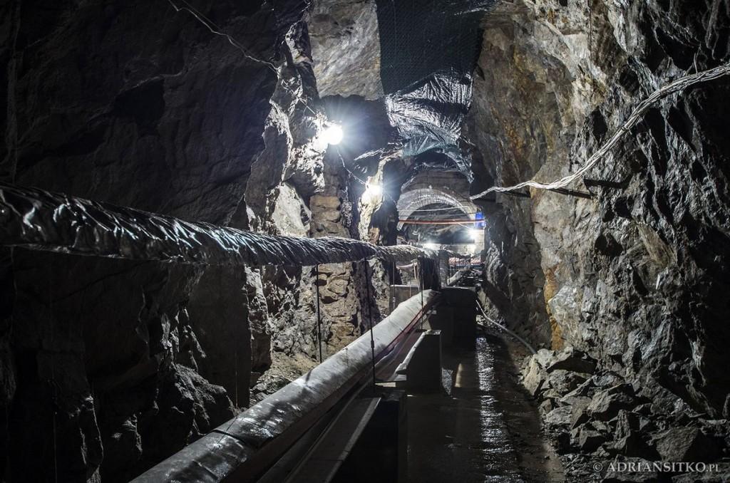 Podziemne tunele Zamku Książ - część należąca do Laboratorium Geodynamicznego.