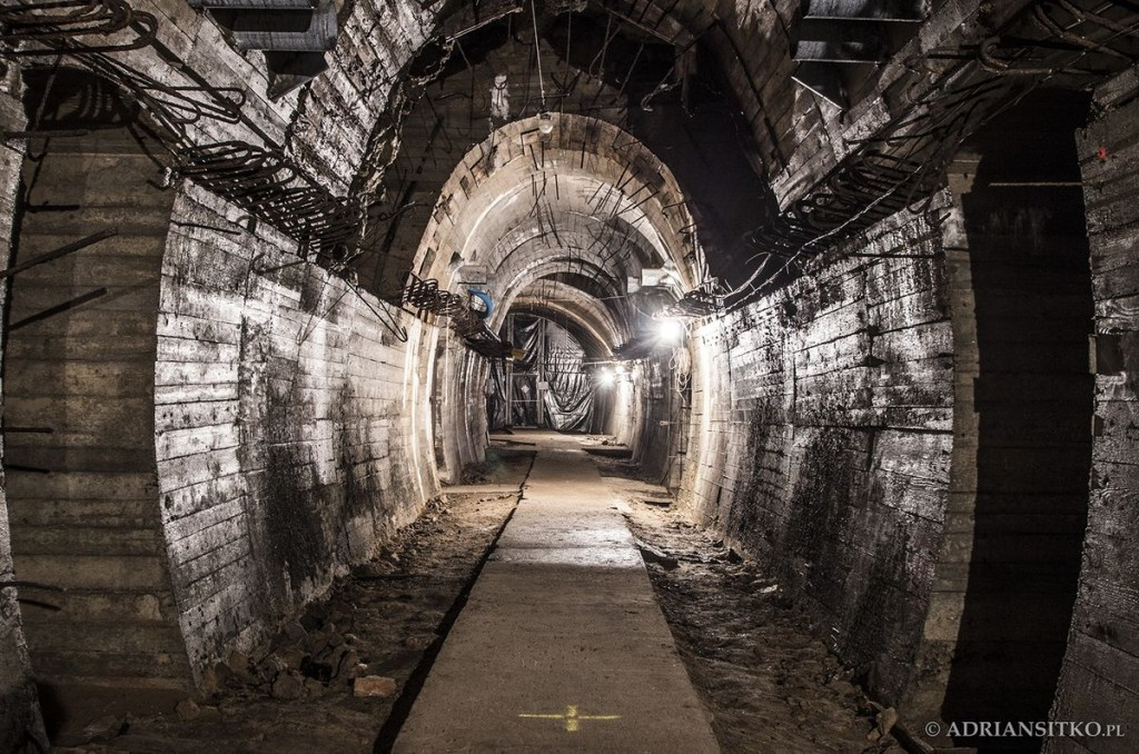 Podziemne tunele Zamku Książ. Zasypany tunel.