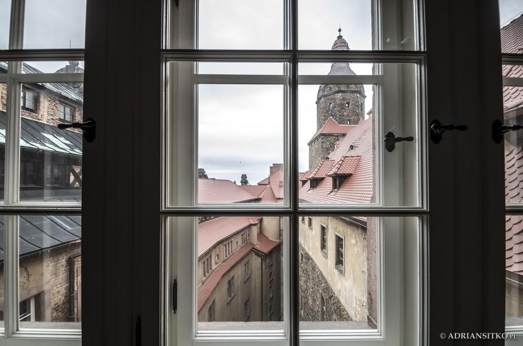 Zamek Książ, widok z zamkowych okien.