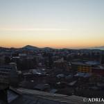Miasto przed wschodem słońca