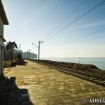 Widok sprzed stacyjki na Morze Czarne